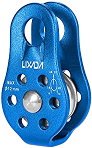 Lixada Zip Line Pulley Tandem Speed Dual Trolley 30kN Rescue Climbing Dual Pulley with Ball Bearing Rock/20KN