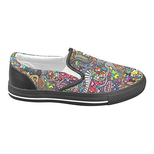 Unik Debora Anpassade Mode Kvinna Gymnastikskor Ovanliga Loafers Slip-on Tygskor Multicoloured13