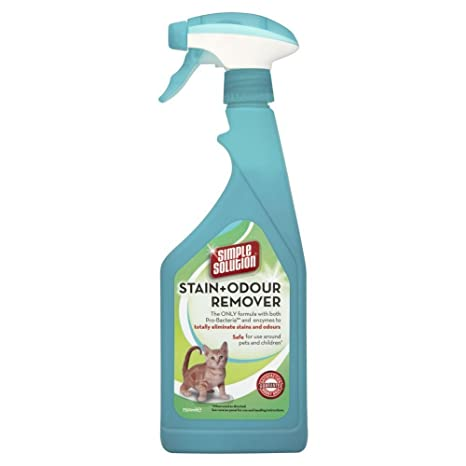 Solución simple a las manchas y olor Remover 750 ml para gatos