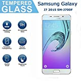 Samsung Galaxy J7 2015 SM-J700F Screen Protector, OuDu Tempered Glass Screen Protector for Samsung Galaxy J7 2015 SM-J700F Clear Protective Film with 9H Hardness & 2.5D Edge Technolog