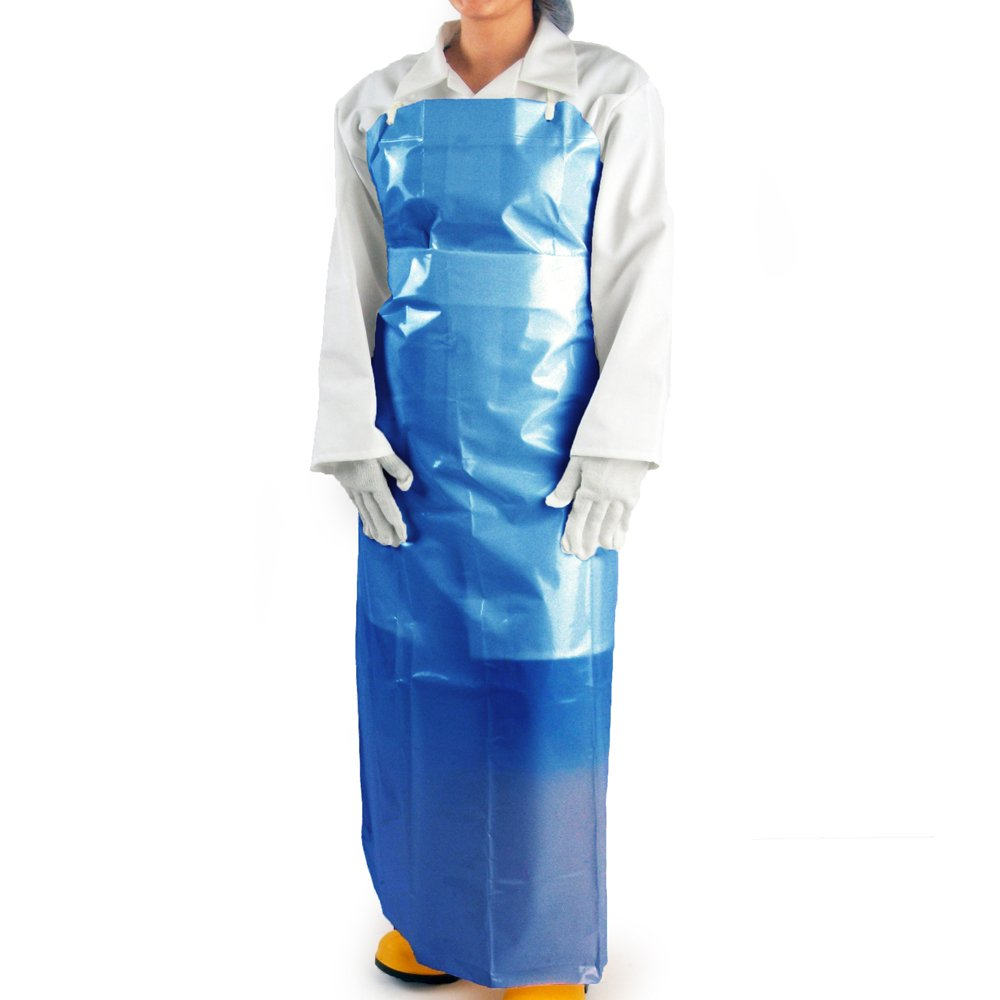 UltraSource 450020 VR Aprons, 4 mil, 35'' x 45'', Blue (Pack of 100)