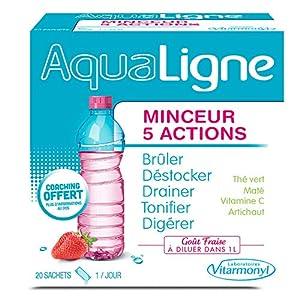 Vitavea – Aqualigne complément alimentaire minceur 5 actions – thé vert maté vitamine C artichaut pour bruler destocker…