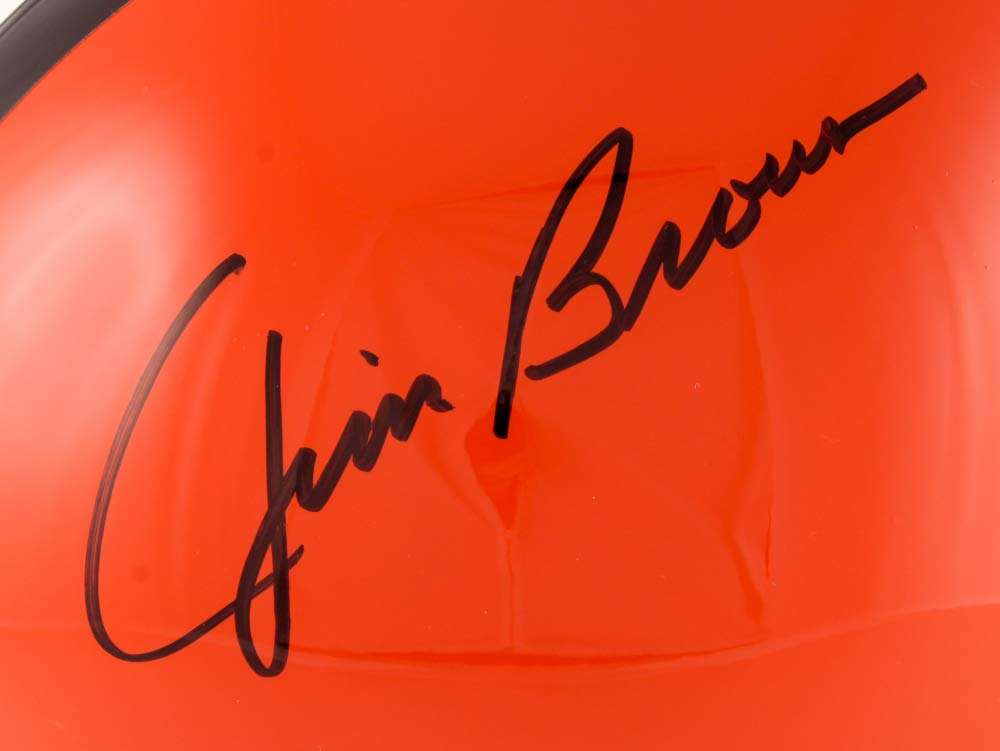 Amazon com: Jim Brown Cleveland Browns Signed Autograph Full