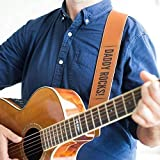 Personalized Leather Guitar Strap - Custom leather guitar strap, for acoustic guitar, electric guitar, bass guitar & more