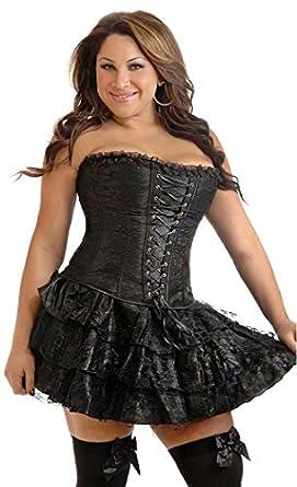 Amazon.com: Daisy Corsets Black Lace Corset Dress: Adult Exotic ...