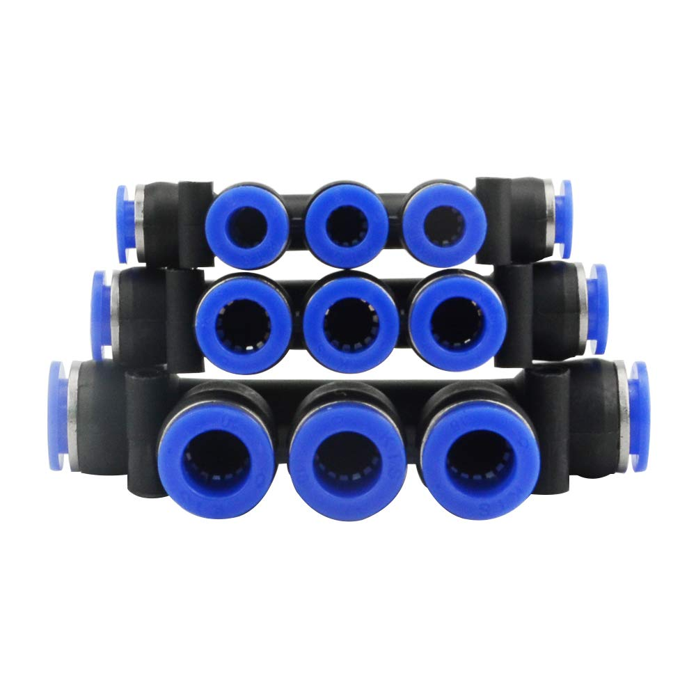 WMYCONGCONG 10 PCS Plastic Manifold Union Push to Connect Tube Fittings Quick Connect Fittings 8mm or 5//16 8mm