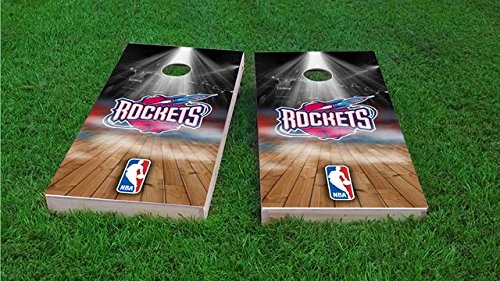 Houston Rockets Cornhole Set, 1x4 Frame (25% Lighter) by Tailgate Pro's