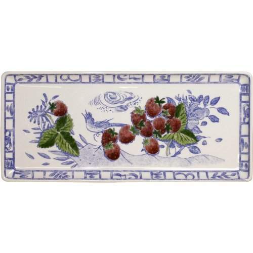 GIEN - OISEAU BLEU FRUITS Long Rectangular Platter