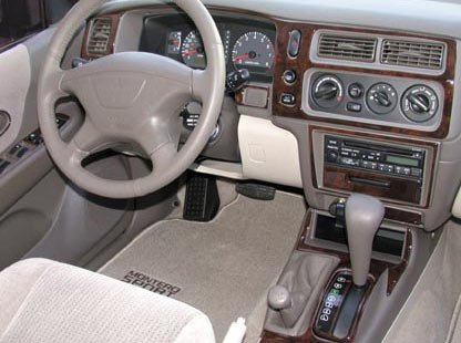 amazoncom mitsubishi montero sport interior burl wood dash trim kit set 2001 2002 2003 2004 automotive - Mitsubishi Montero 2003 Interior