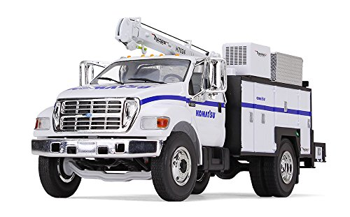 First Gear 1/34 Scale Diecast Collectible Komatsu Ford F-650 with Maintainer Service Body (10-4108)