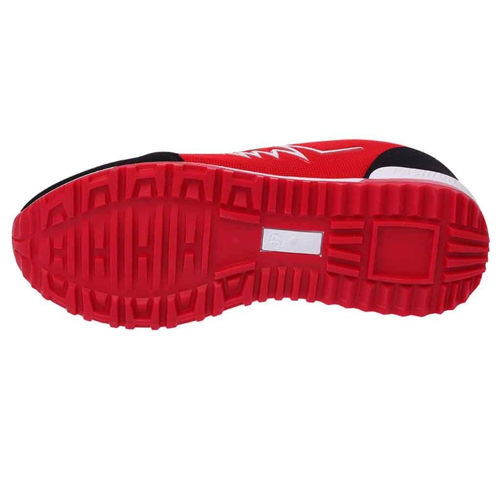 LHWY Zapatillas Mocasines de Deportes Zapatillas de Deporte Mujer Zapato con Cordones Zapato Casual al Aire Libre Malla Transpirable Zapatos Transpirables