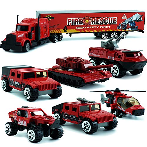 MinYn Fire Engine Truck Toy Die Cast Rescue Emergency for sale  Delivered anywhere in USA