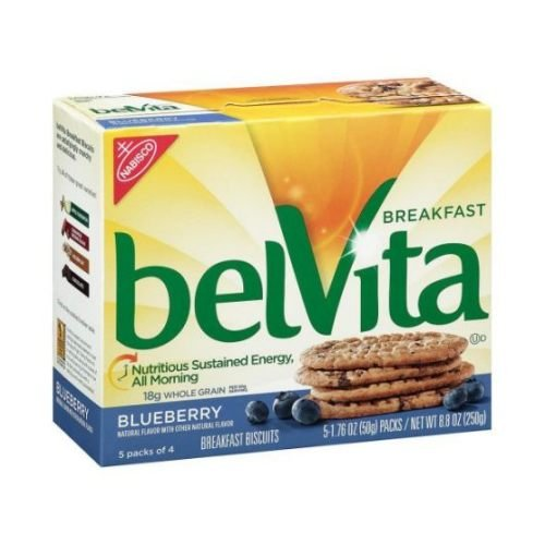 Nabisco Belvita Blueberry Breakfast Biscuit, 1.76 Ounce - 5 per pack - 6 packs per case. by Nabisco