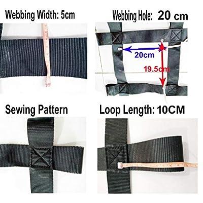Fong Climbing Cargo Net Black 12ft (145 inch X 49 inch) - Playground Cargo Net - Climbing Net for Swingset - Indoor Climbing Net: Toys & Games