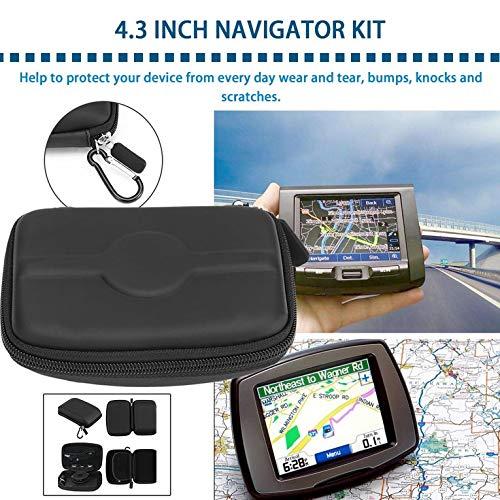 de 4,3 Pulgadas Funda r/ígida de Poliuretano para navegador Tomtom Garmin Start GPS Color Negro