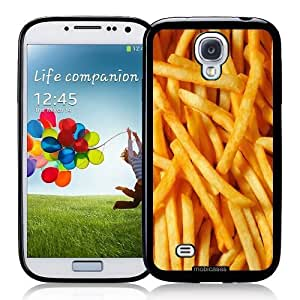 Cool Painting French Fries Portrait - Protective Designer BLACK Case - Fits Samsung Galaxy S4 i9500