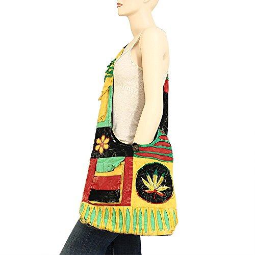 modelli cotone 2065 tracolla mano a Varietà Bohemian Hippie Foglia in a Tracolla Tracolla AHFKqfZ