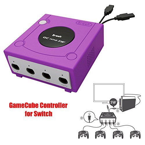 Game Controller Adapter - Gam3Gear Brook Super SW Converter for GameCube GC to Nintendo Switch Controller Adapter with Gam3Gear Keychain