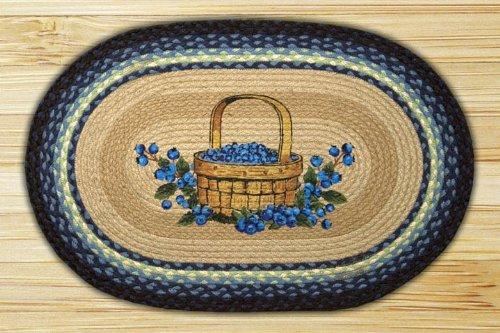 "Earth Rugs 65-312BB Basket Oval Design Rug, 20 by 30"", Braid"