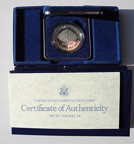 1987 S Proof US Constitution Commemorative Dollar PR-01
