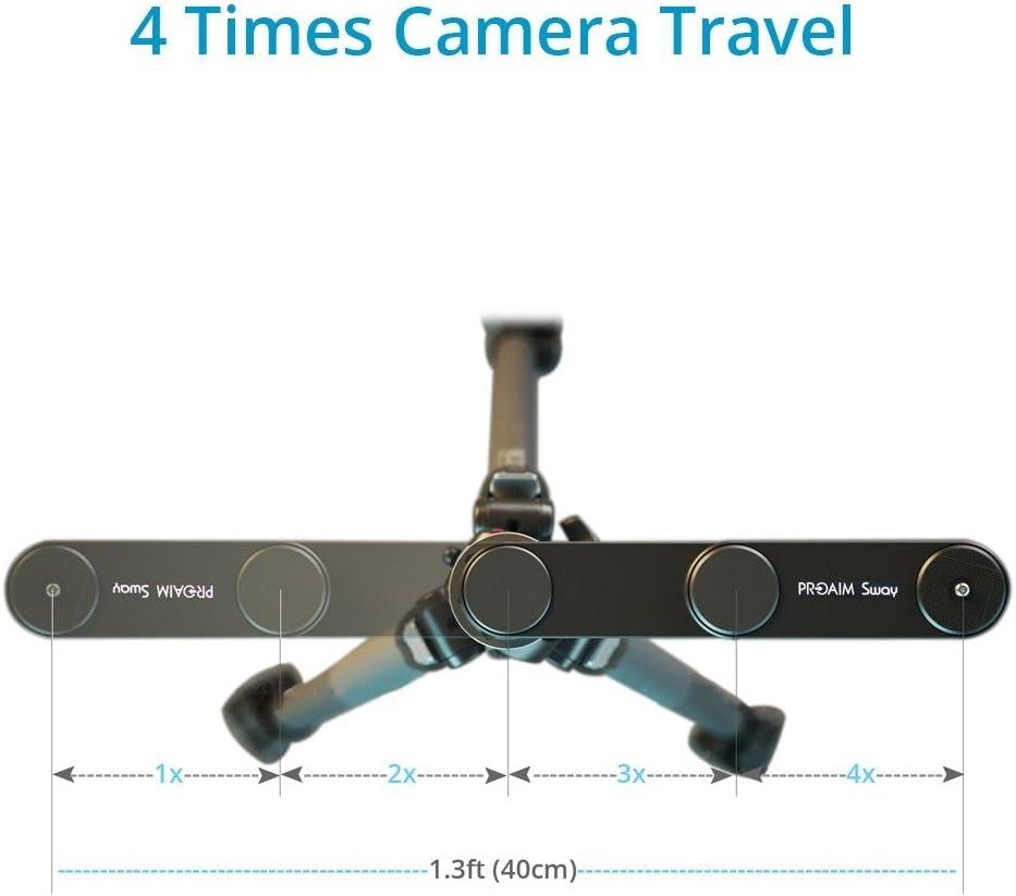 sl-051//–/00 Proaim Sway camera Slider rail Track Dolly si estende fino a 4//× distanza per action camera//smartphone//DSLR//Ildc telecamere video recording