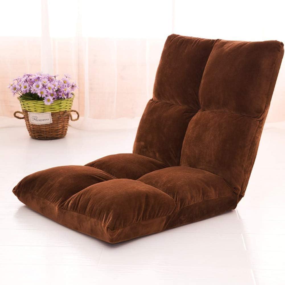 107 cm Unbekannt GOUO@ F/ütterungsstuhl Klapp Japanischen Stillstuhl Lazy Couch Einzel Tatami Mini Schlafsaal Zimmer Balkon Bett Lesen R/ückenlehne Liege 55