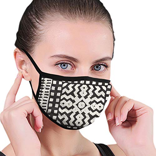 MAMIBAOYA Ethnic and Tribal Mouth Mask, Men and Women Mask Personality Print Anti-Pollen Mask Anti-dust and Anti-infective Polyester Face Mask Face-Fitting
