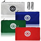 hvac tech bag - Pencetti Small Tool Bag - 4 Canvas Color-Coded Tool Bags and Pouches with 2 BONUS Flashlights - Perfect for Organzing Tool Kits, Screwdrivers, Wrenches, Drill Bits and Pliers