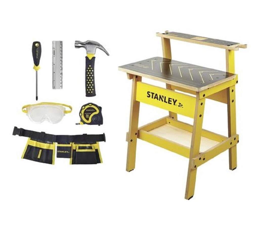 Stanley Jr. Kids Handyman Workbench and 6-Piece Toolset, 32'' H, 5+