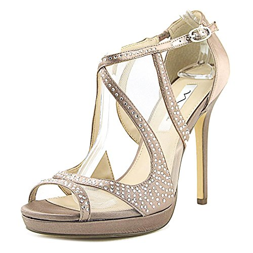 Nina Womens Franca Open Toe Special Occasion Ankle Strap Sandals Crystal Satin/Mesh CJMVid5O