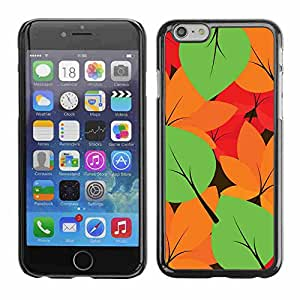 "Shell-Star ( Autumn Leaves Colors Pattern ) Fundas Cover Cubre Hard Case Cover para 5.5"" iPhone 6 Plus"