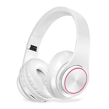 Nanle Auriculares Bluetooth Auriculares inalámbricos con luz LED, micrófono Hi-Fi Auriculares inalámbricos Bajos Profundos Copas Protectoras del Oído para ...