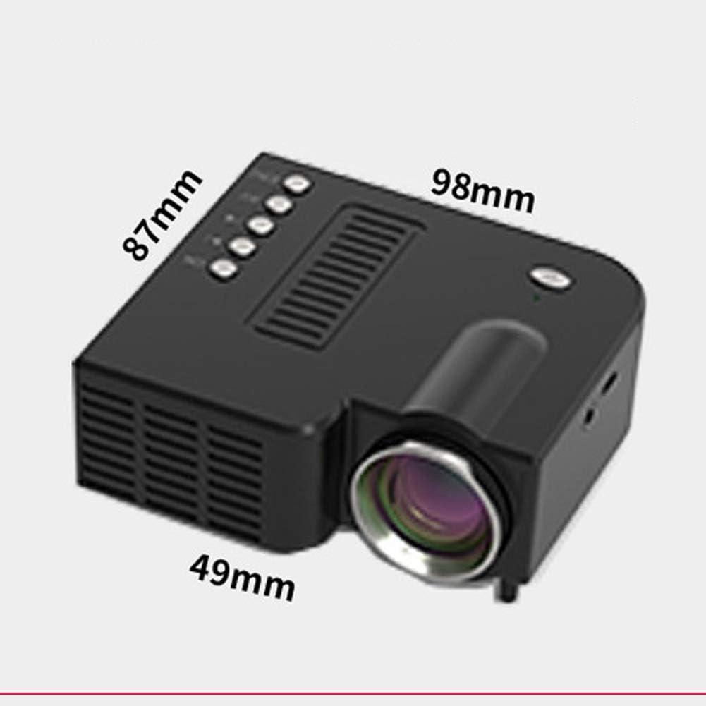 per HDMI mini proiettore portatile Videoproiettore micro cellulare USB 20.000 ore proiettore professionale per intrattenimento familiare e home theater AV TF VGA TV Stick supporto HD 1080P