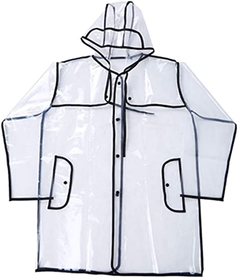 Giacca da Pioggia,Cappotto Pioggia con Cappucci e Maniche per Festival di Viaggi Parchi Tematici e Allaperto
