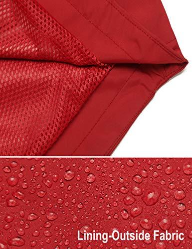 iWoo Mens Breathable Rain Jacket Waterproof with Hood Lined Windbreaker