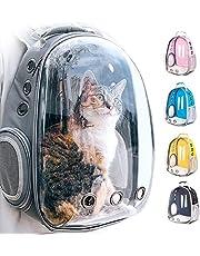 "JUBANGLIAN Pet Carrier Rugzak, Clear Bubble Cat Rugzak Dragers Draagbare Geventileerde Carry Rugzak voor Kat Kleine Hond Reizen Wandelen Outdoor Gebruik (A,13"" L x 7"" B x 17"" H)"