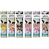 Magic Milk Milk Magic Flavoring Straws 36 Assorted Flavor Straws Vanilla Milkshake Strawberry Banana Chocolate Strawberry Neapolitan Cotton Candy
