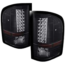 Spyder Auto (ALT-JH-CS07-LED-BK) Chevy Silverado Black LED Tail Light - Pair