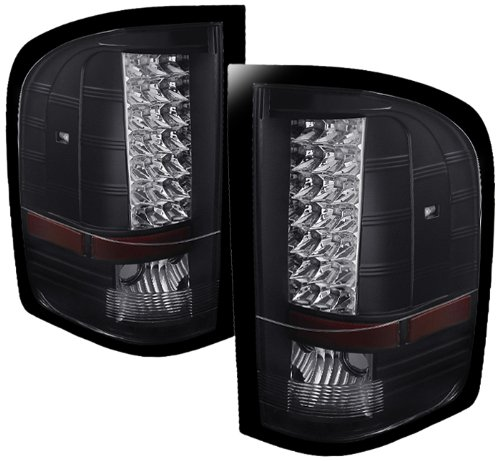 Spyder Auto (ALT-JH-CS07-LED-BK) Chevy Silverado Black LED Tail Light - Pair (Spyder Led Lights compare prices)