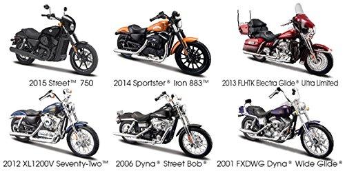Harley Davidson Motorcycle 6pc Set Series 34 1/18 by Maisto 31360-34