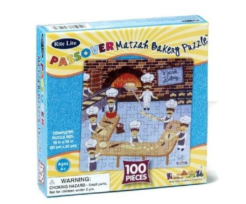 Passover 100 Piece Matzah Bakery Jigsaw Puzzle by Rite Lite ()
