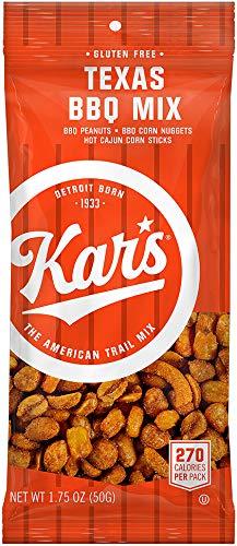Kar's Nuts Texas BBQ Trail Mix, Bulk Pack of 1.75 oz Individual Single Serve Bags (Pack of 72)