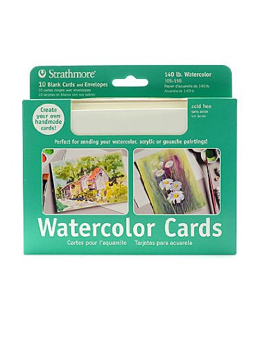 Amazon strathmore watercolor blank greeting card pack of 10 strathmore watercolor blank greeting card pack of 10 pack of 2 m4hsunfo