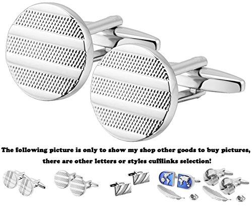 (GGemony Mens Cufflinks Luxury French Tuxedo Shirt S925 Silver & 18K World Map Stainless Steel Business Knot Cufflinks for Men JS002)