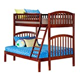 Richland Bunk Bed, Twin Over Full, Antique Walnut