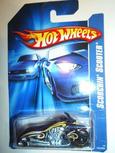 Hot Wheels - 2006 - Scorchin' Scooter - Purple / Yellow - #183/223 - Limited Edition - Collectible 1:64 Scale (Hot Scooter Wheels)