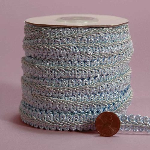 Pastel Blue Gimp Braid Trim, 5/8