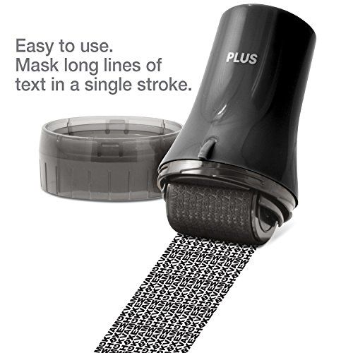 Guard Your ID ADVANCED WIDE Roller Identity Theft Prevention Security Stamp BLACK by Guard Your ID (Image #2)