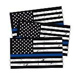 "Reflective American US Flag Decal, 3 PCS 5"" x"
