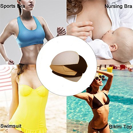 bbe3c004e2 TopBine Sport Bra Inserts Triangle Replacement Removable Bra Push Up Pads  Sew In Bra Cups For